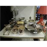 A quantity of assorted silver plate including Walker & Hall