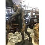 """A bronze sculpture """"Horseplay"""" 1988 artist John Clinch 1934-2001."""