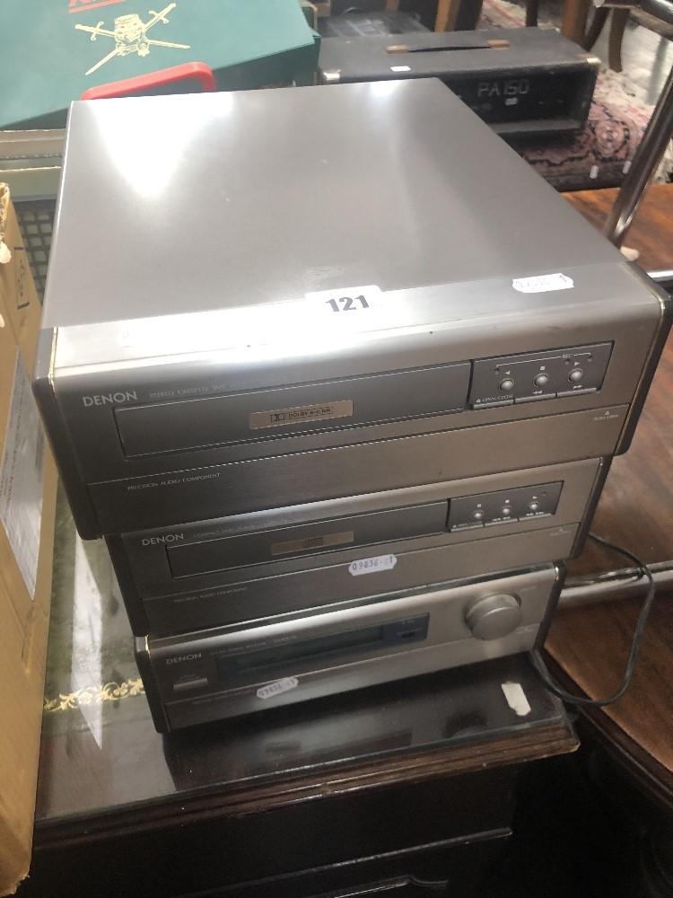Lot 111 - A Denon mini stack hifi system