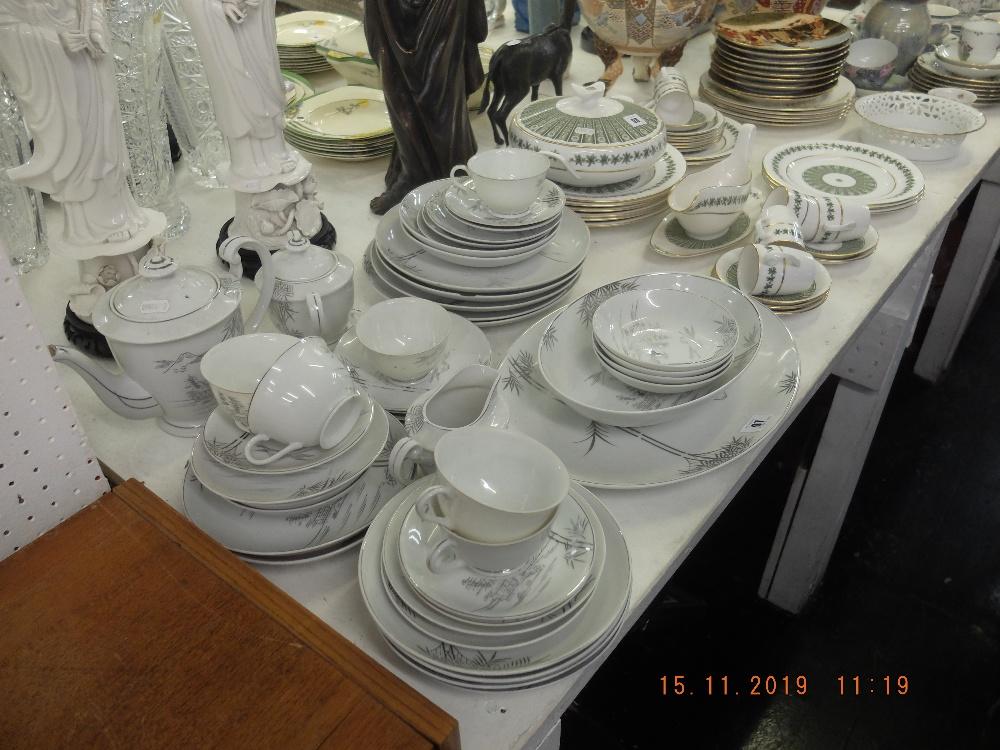 Lot 97 - A part tea and dinner set