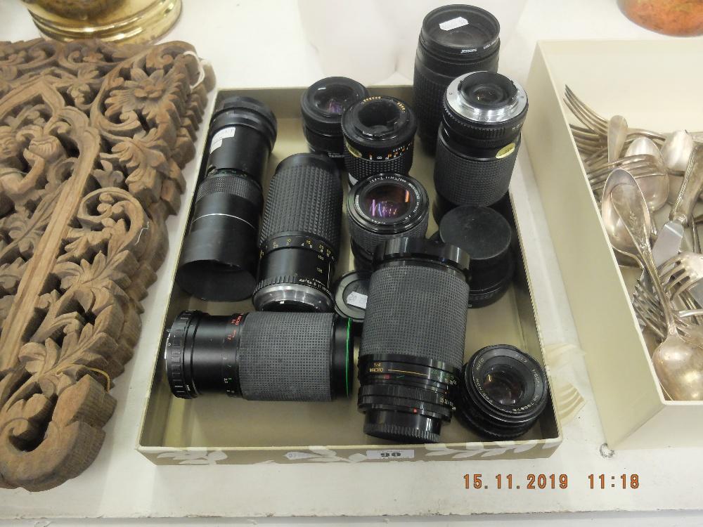 Lot 90 - A quantity of assorted camera lenses