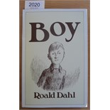Dahl (Roald) Boy, Tales of Childhood, 1984, Cape, first edition, signed by the author (1985), dust