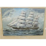 George R Wiseman, 'Sovereign of The Seas', a signed watercolour, 37 x 55cm, titled on mount.