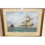 George R Wiseman, 'Diligence', a signed watercolour, 36.5 x 54.5cm, titled on mount.
