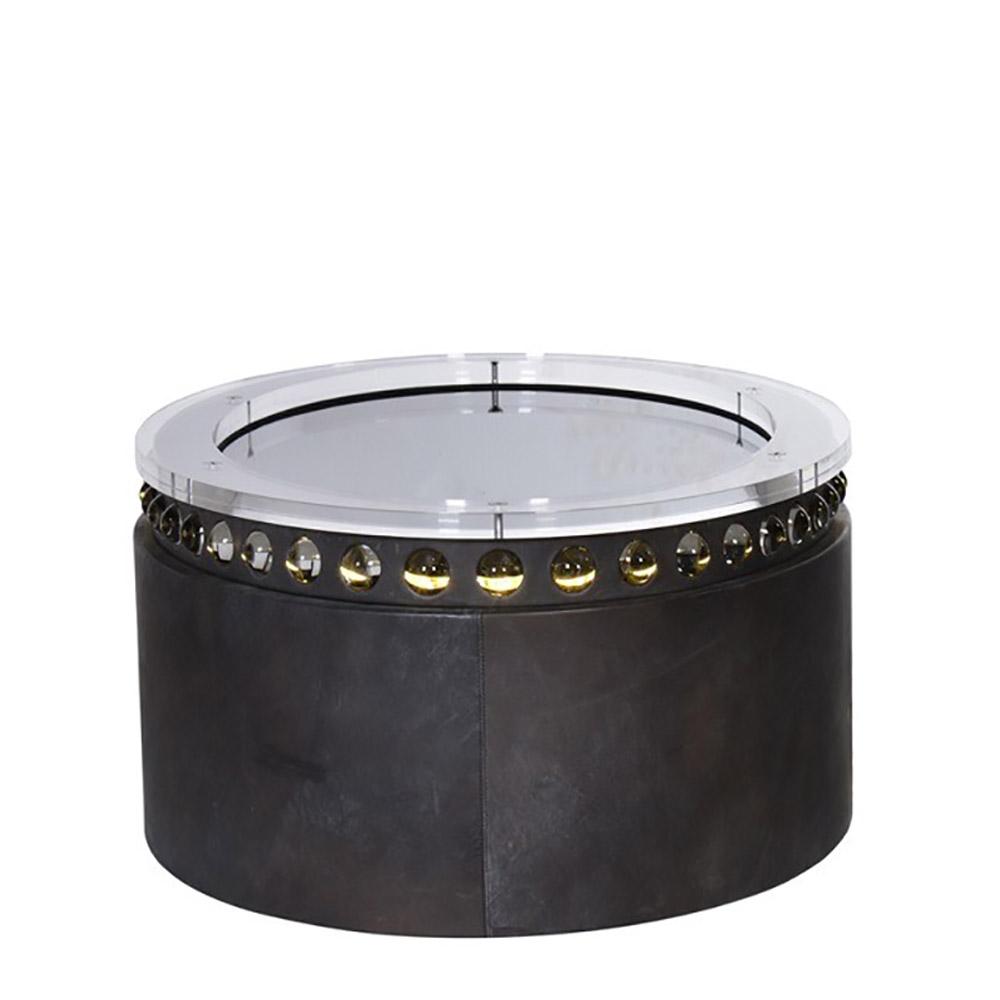 Honey pot coffee table 80cm destroyed black acrylic 80 x for Coffee table 80cm x 80cm