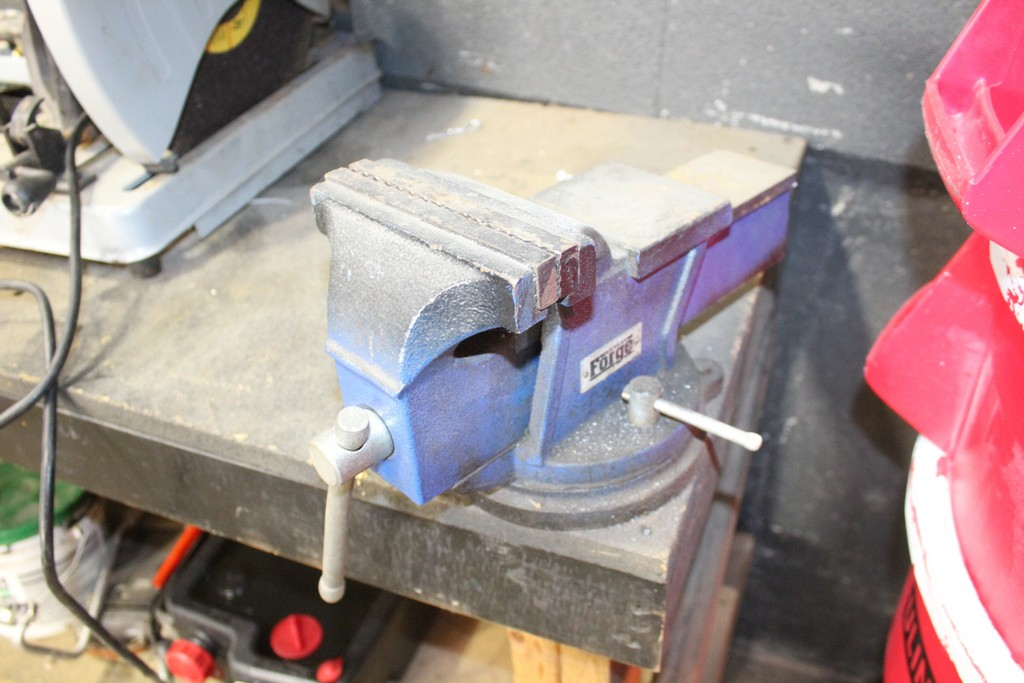 """WORKBENCH-37"""" X 55"""" X 24"""" WITH 6"""" CENTRAL FORGE VISE AND CHICAGO ELECTRIC CHOP SAW - Image 2 of 2"""