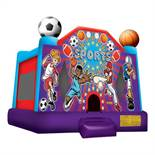ALL-STAR (WITH HOOP) BOUNCE HOUSE WITH 1HP BLOWER
