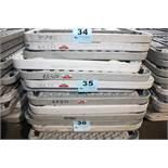 "(5) PLASTIC FOLDING TABLES-96"" X 30"""