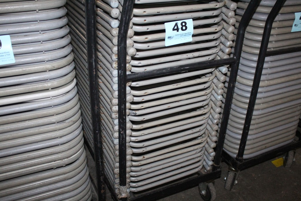 (25) PLASTIC FOLDING CHAIRS WITH METAL FRAMES