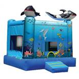 UNDER THE OCEAN BOUNCE HOUSE WITH 1HP BLOWER