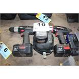 (2) CRAFTSMAN ELECTRIC DRILLS WITH BATTERIES AND CHARGERS