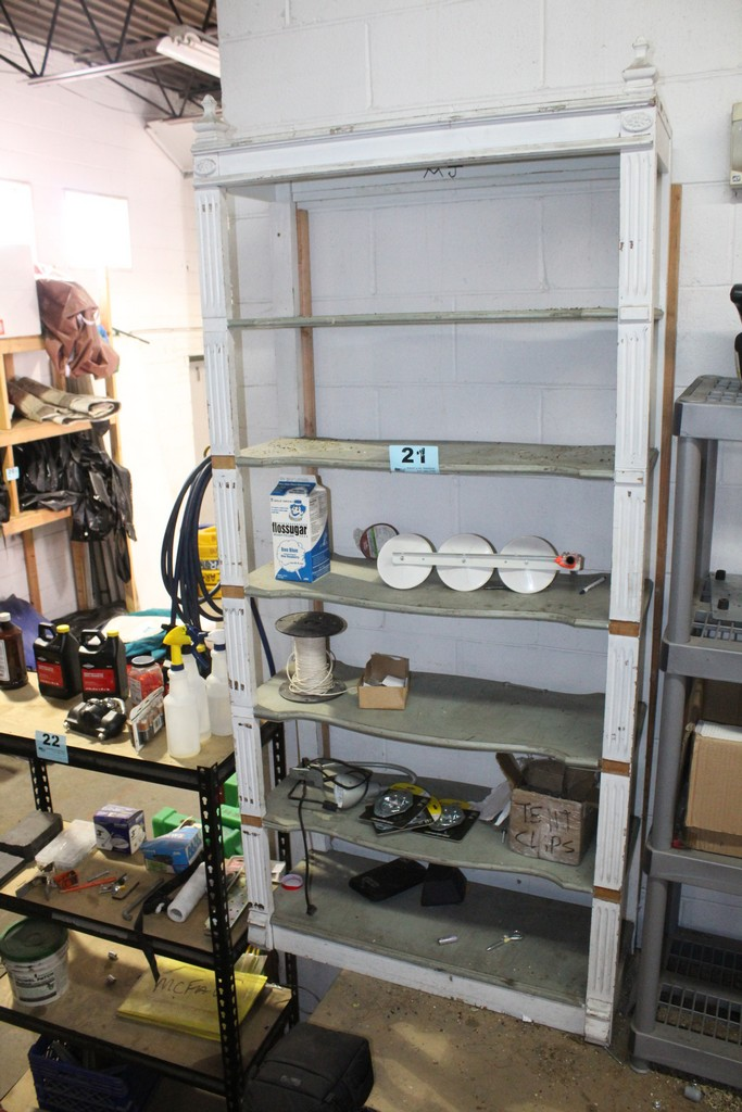 """SHELVING UNIT WITH CONTENTS-80"""" X 37"""" X 17"""""""
