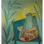 "Liz Hardy (British, B.1967) ""Abundance 2020"", mixed media on canvas, signed and dated 2020 to"