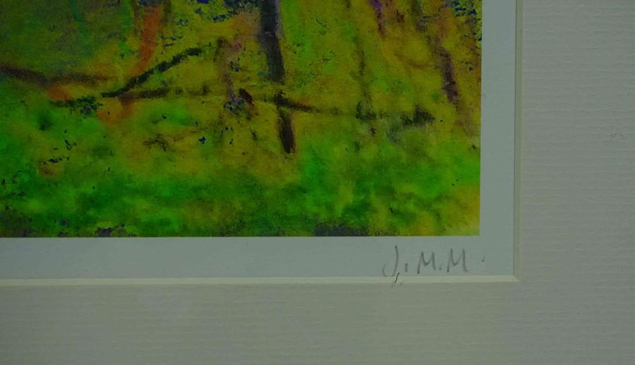 "Justine Miller (British, B.1970) ""Landscape VI"" 1/1, multi-media print, initialled and titled on - Image 4 of 5"