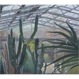 """John Nicholson N.D.D (British, B.1944) """"Cacti"""", mixed media, signed to lower right, titled in pencil"""