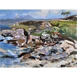 """Selina Wilson (British, B.1986) """"Looking Towards Camusdarach"""", oil on canvas panel, signed to"""