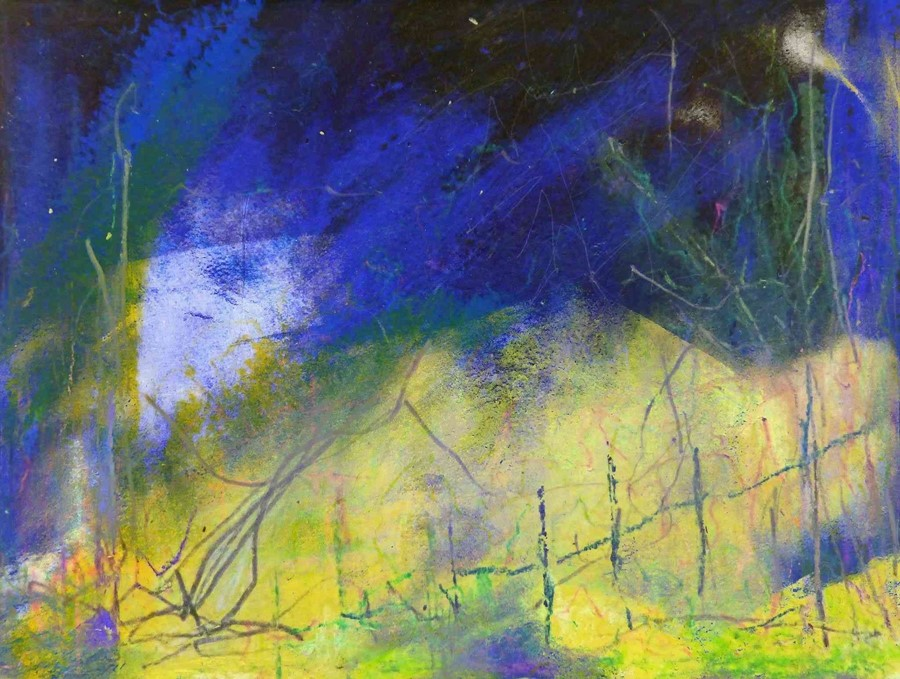 "Justine Miller (British, B.1970) ""Landscape VI"" 1/1, multi-media print, initialled and titled on"