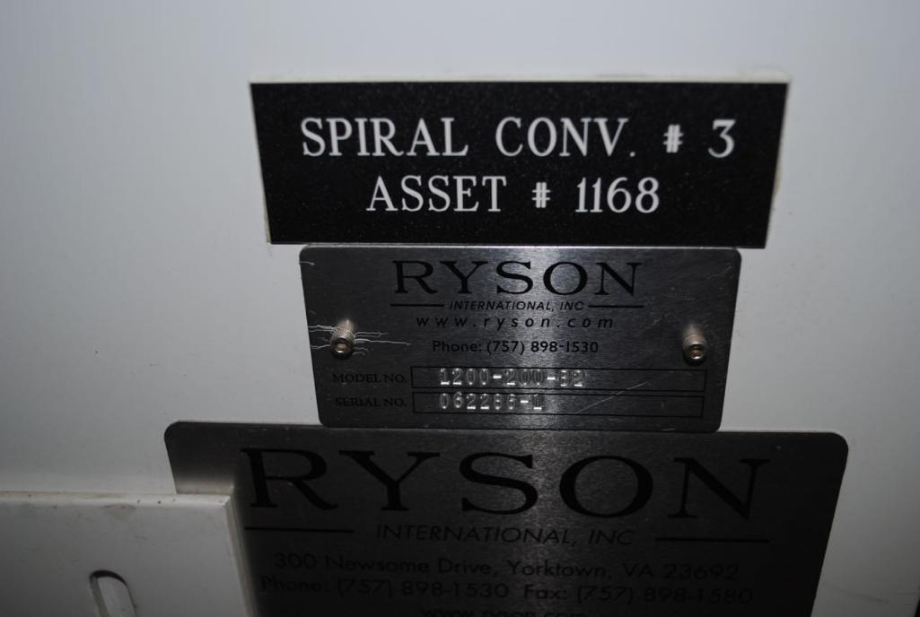 Lot 167 - Ryson Spiral Conveyor Model 1200-200-B2.