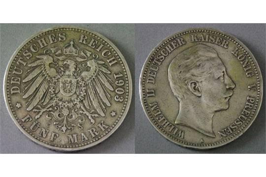 M252nze Aus Silber Quot5 Markquot Preussen 1903 A