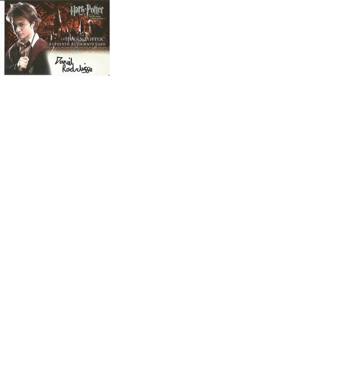 Lot 62 - Daniel Radcliffe and Tom Felton signed Harry Potter Prisoner of Azkaban autographed Artbox trading