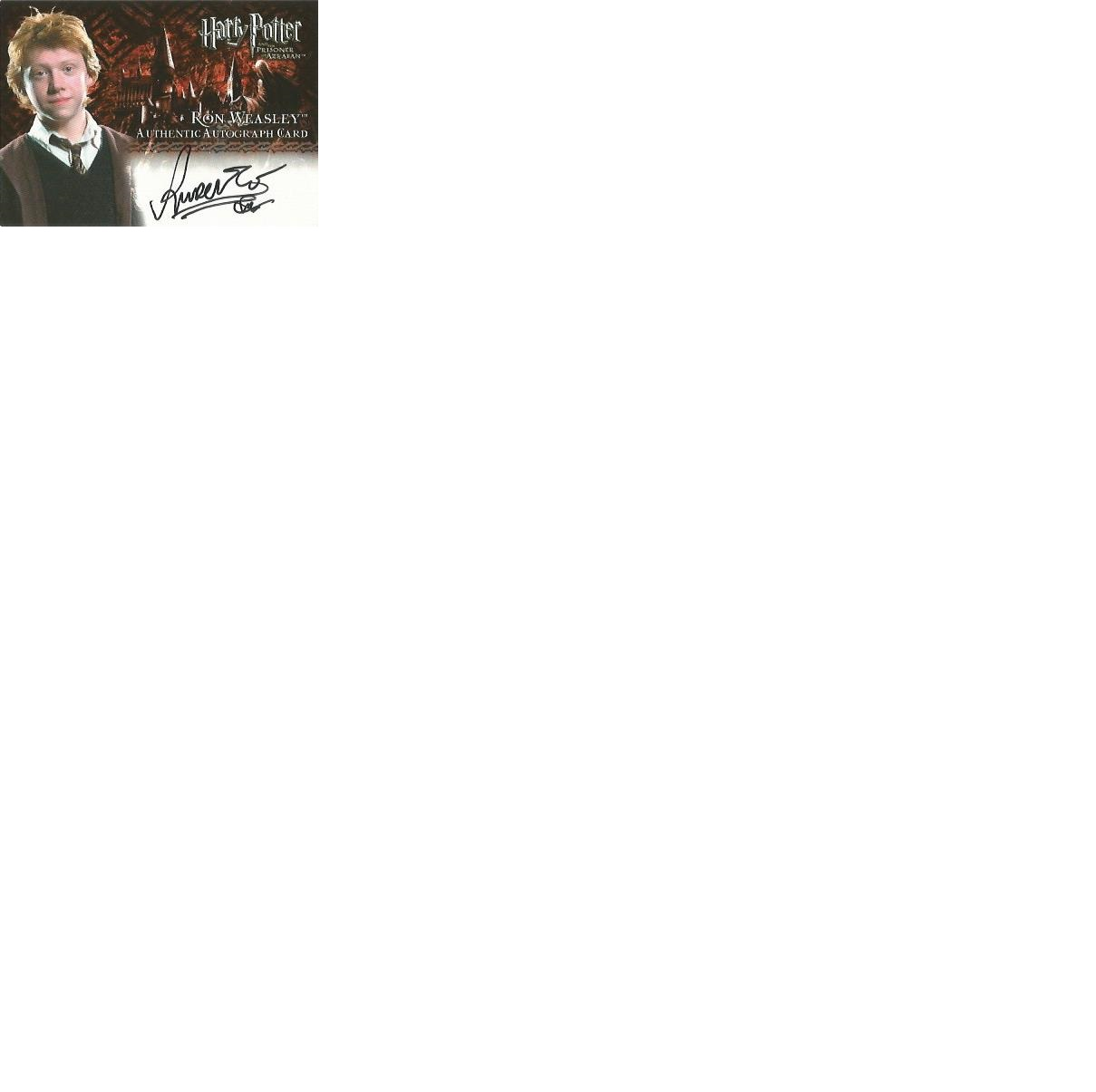 Lot 64 - Rupert Grint as Ron Weasley signed Harry Potter Prisoner of Azkaban autographed Artbox trading card.