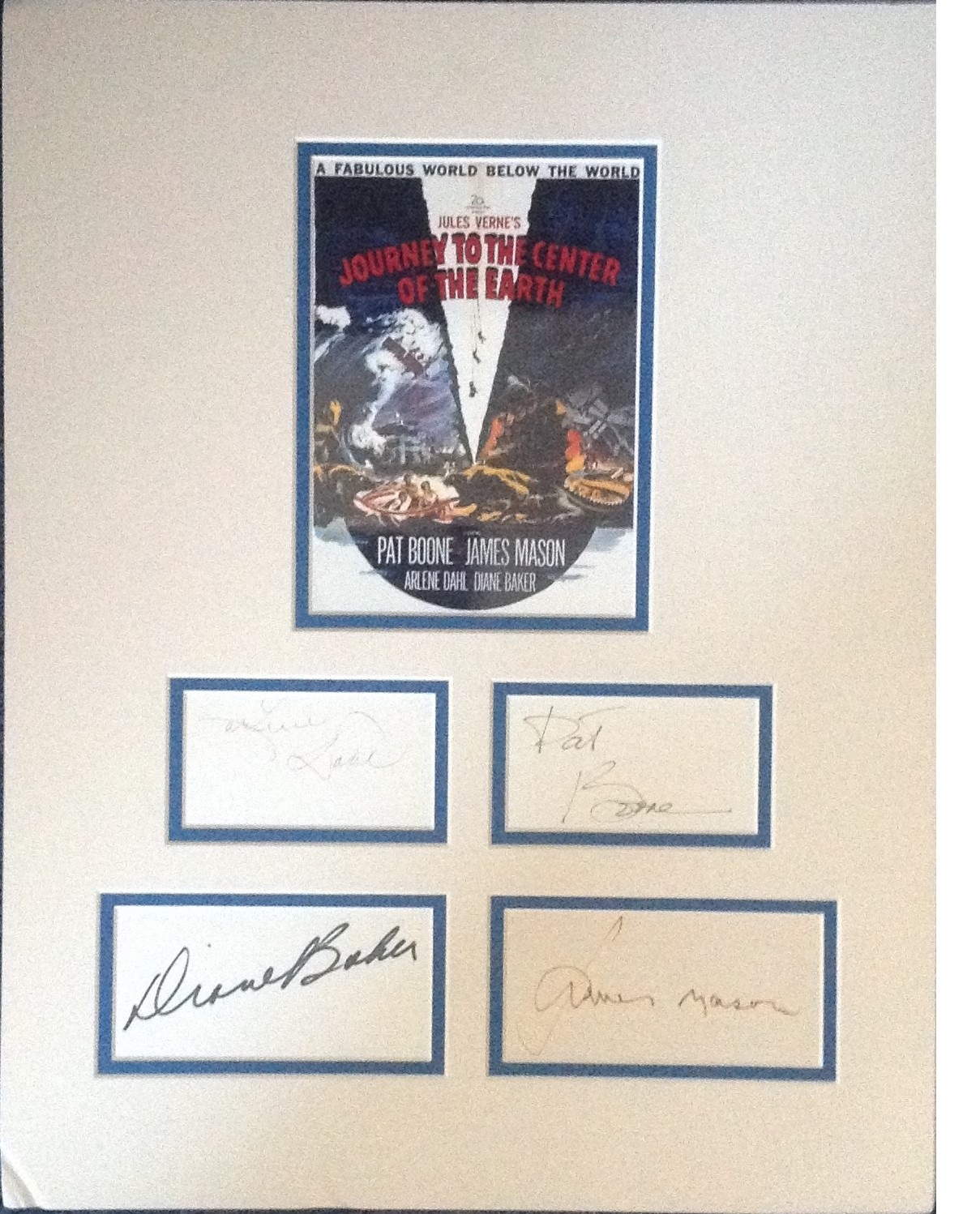 Lot 39 - Journey to the Center of the Earth 18x14 overall signature piece includes signatures from Par Boone,