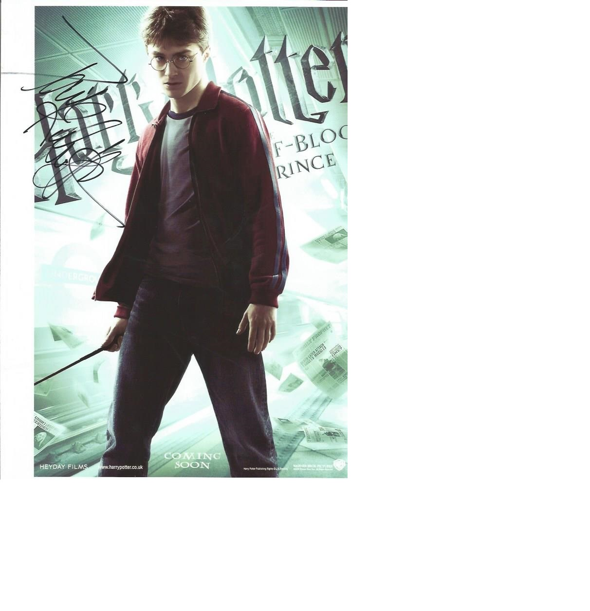 Lot 29 - Daniel Ratcliffe as Harry Potter signed 12 x 8 colour wizard photo, scarce and highly collectable.