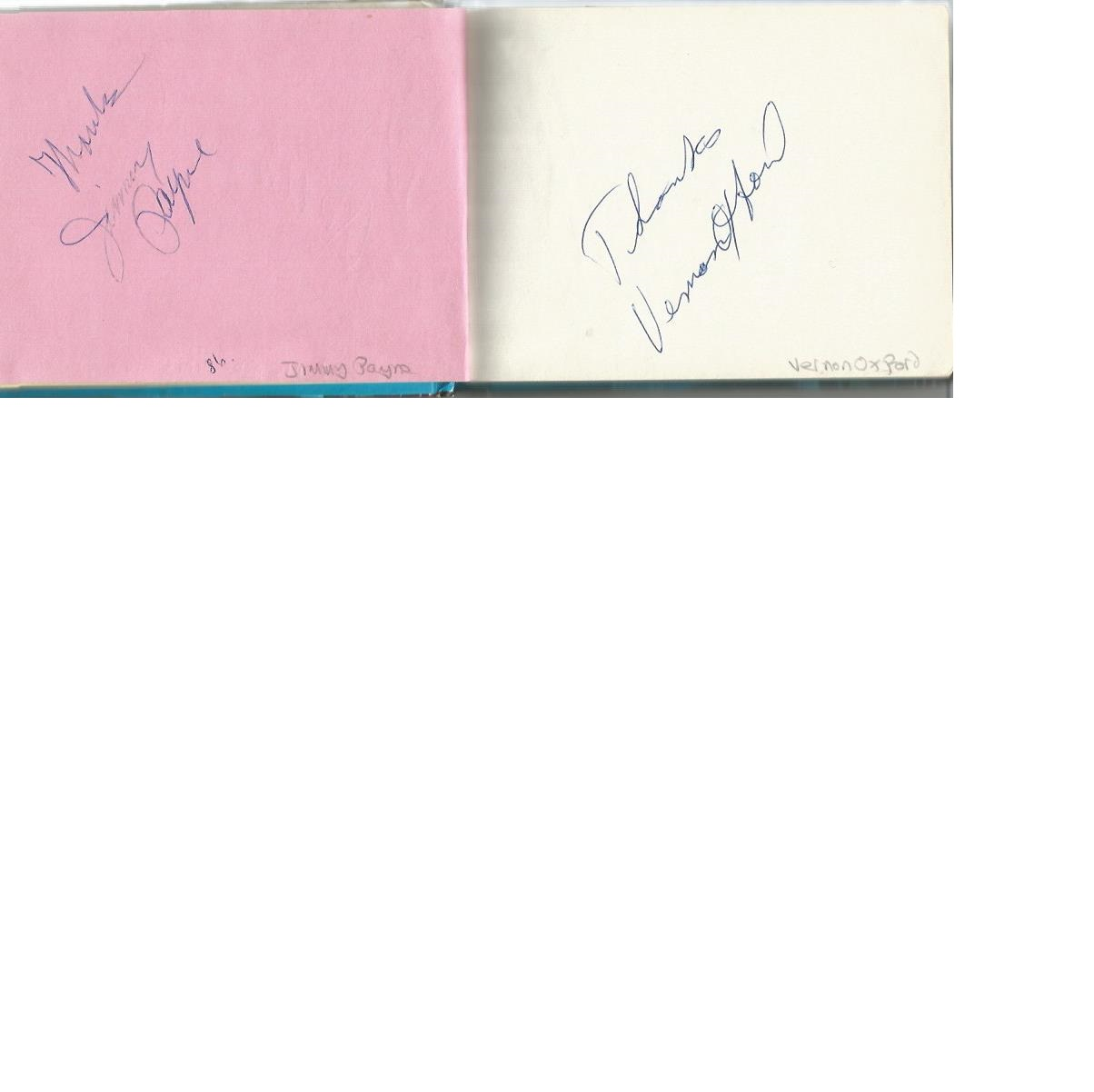 Lot 25 - Music and Entertainment Autograph book. Signatures include PJ Christie, Ronnie Prophet, Sally