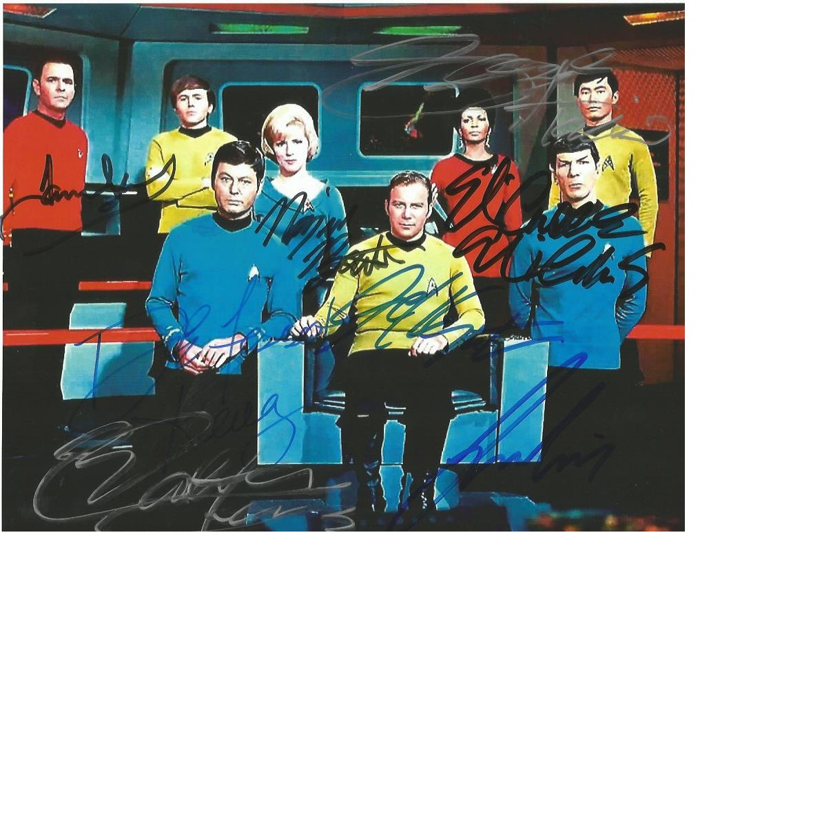 Lot 26 - Star Trek Incredible signed 10 x 8 colour photo. Autographed by William Shatner, Leonard Nimoy,