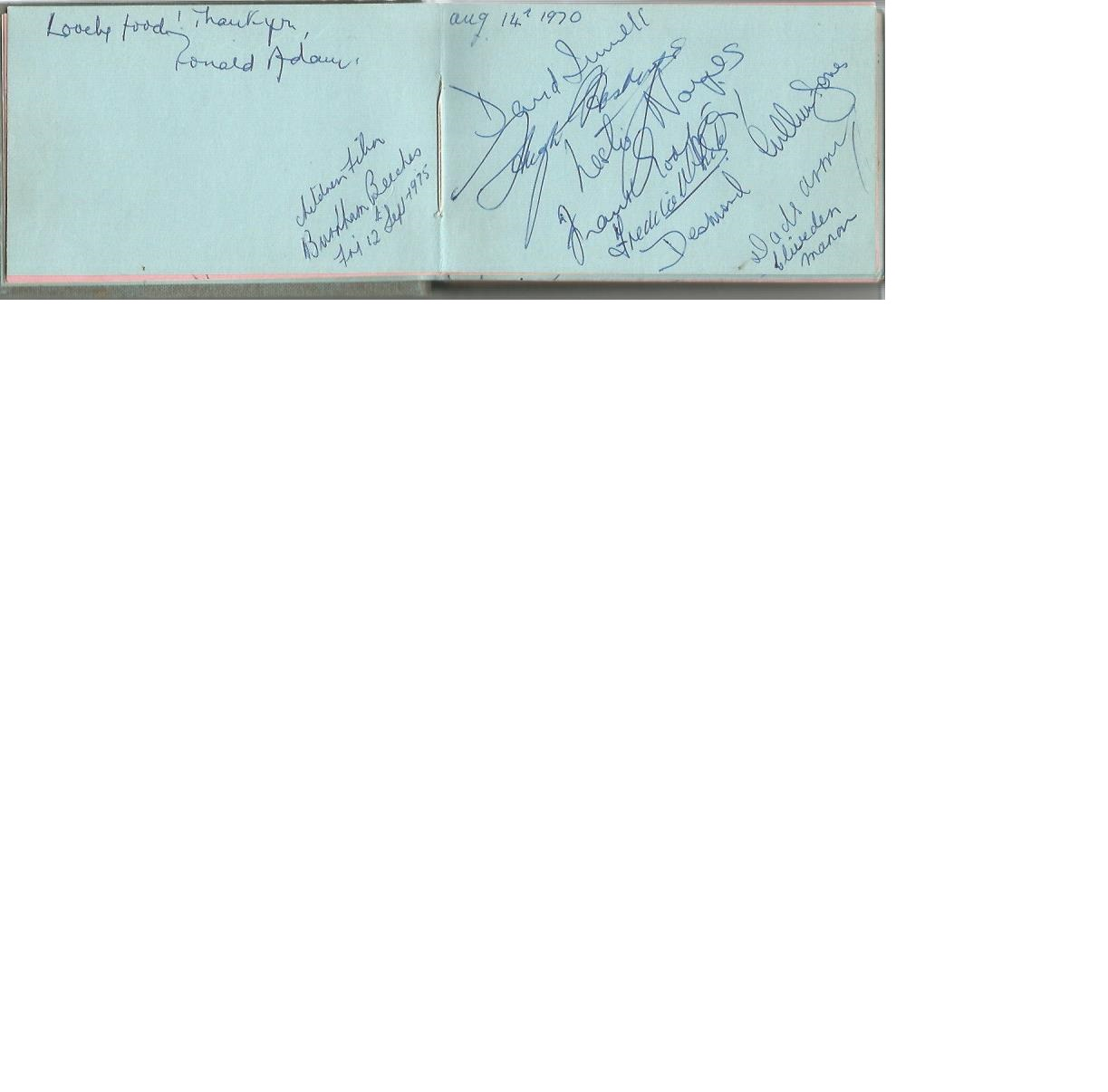 Lot 21 - Dads Army and Entertainment autograph collection in 1970s autograph album. Signatures include Arnold