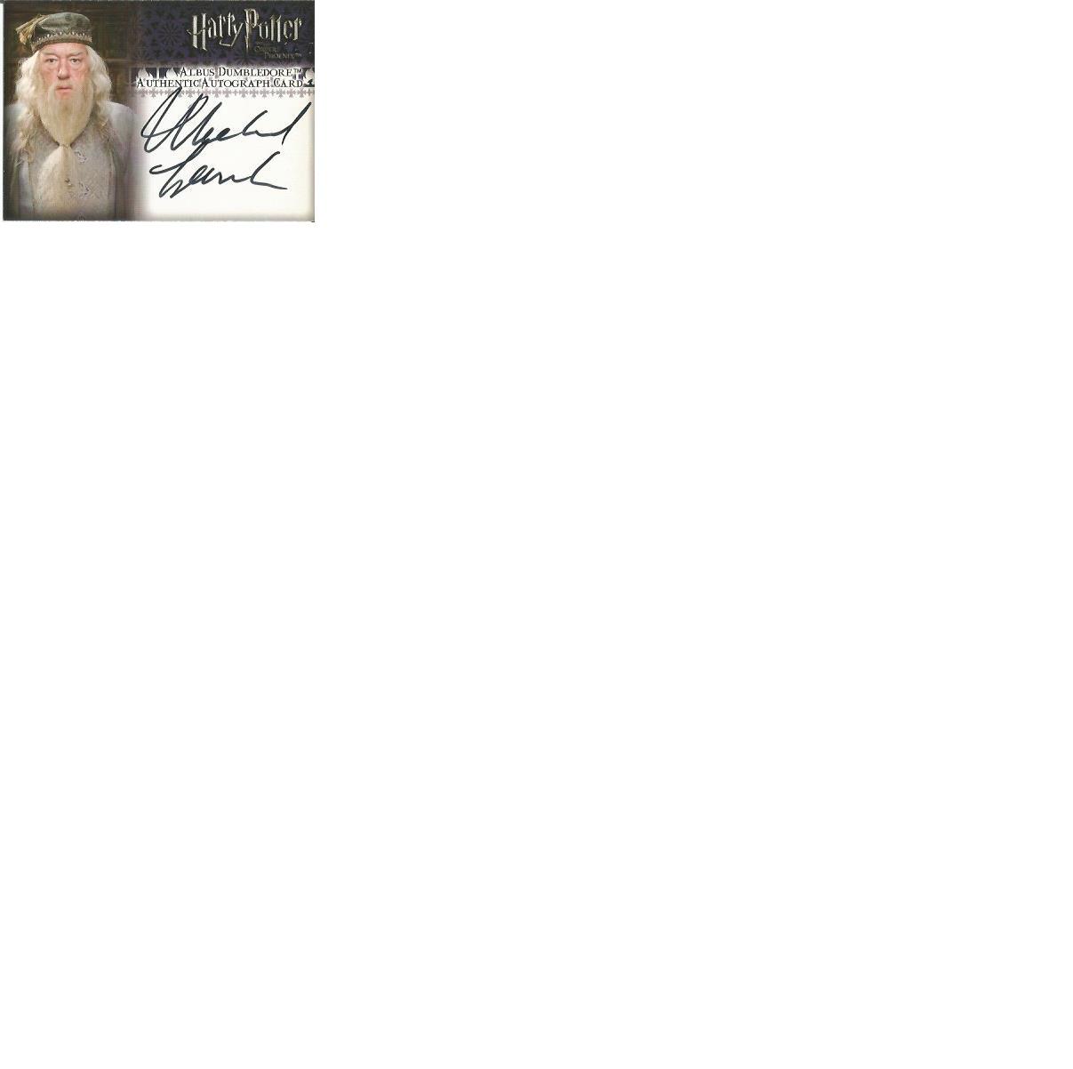 Lot 57 - Michael Gambon as Albus Dumbledore signed Harry Potter Order of the Phoenix autographed Artbox