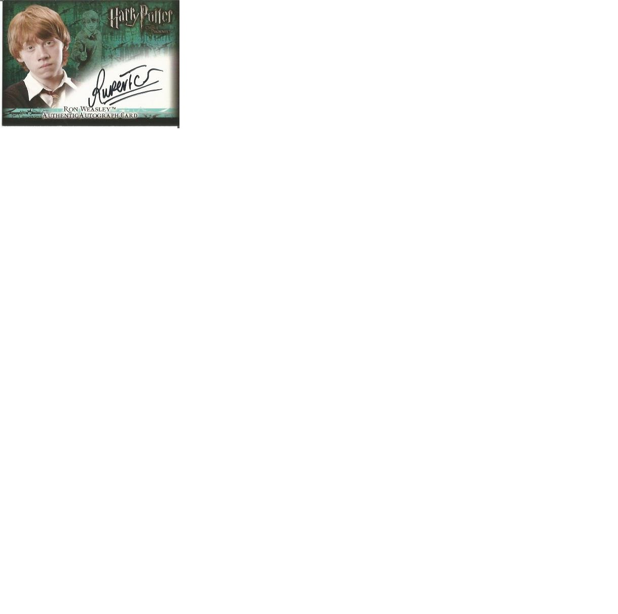 Lot 56 - Rupert Grint as Ron Weasley signed Harry Potter Order of the Phoenix autographed Artbox trading