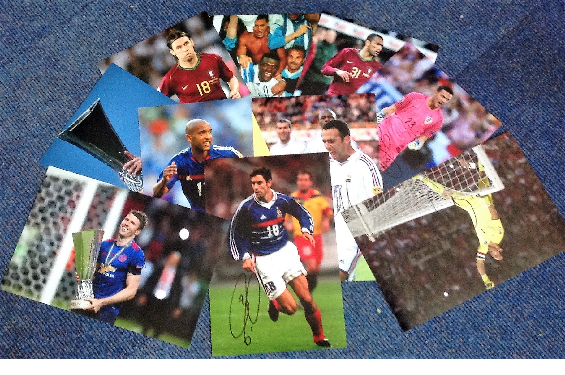 Lot 4 - Football Collection ten 10x8 colour photos Internationals signatures include Marcel Desailly,
