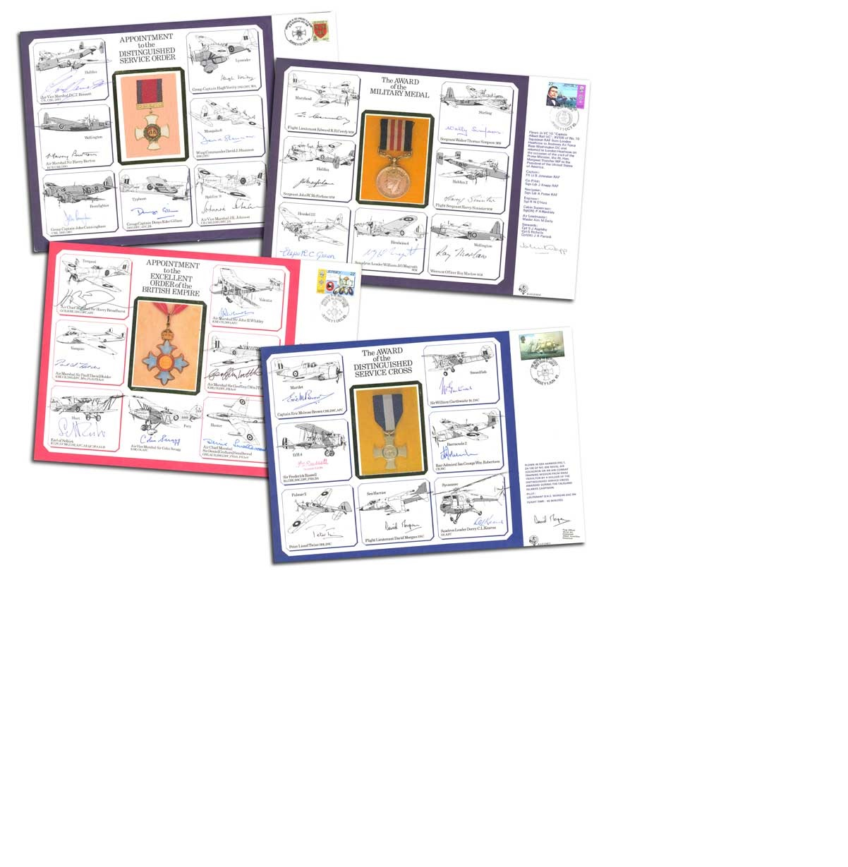 Lot 24 - Nineteen large DM Medal Special Signed Covers. The unbelievably rare set of 19 special signed