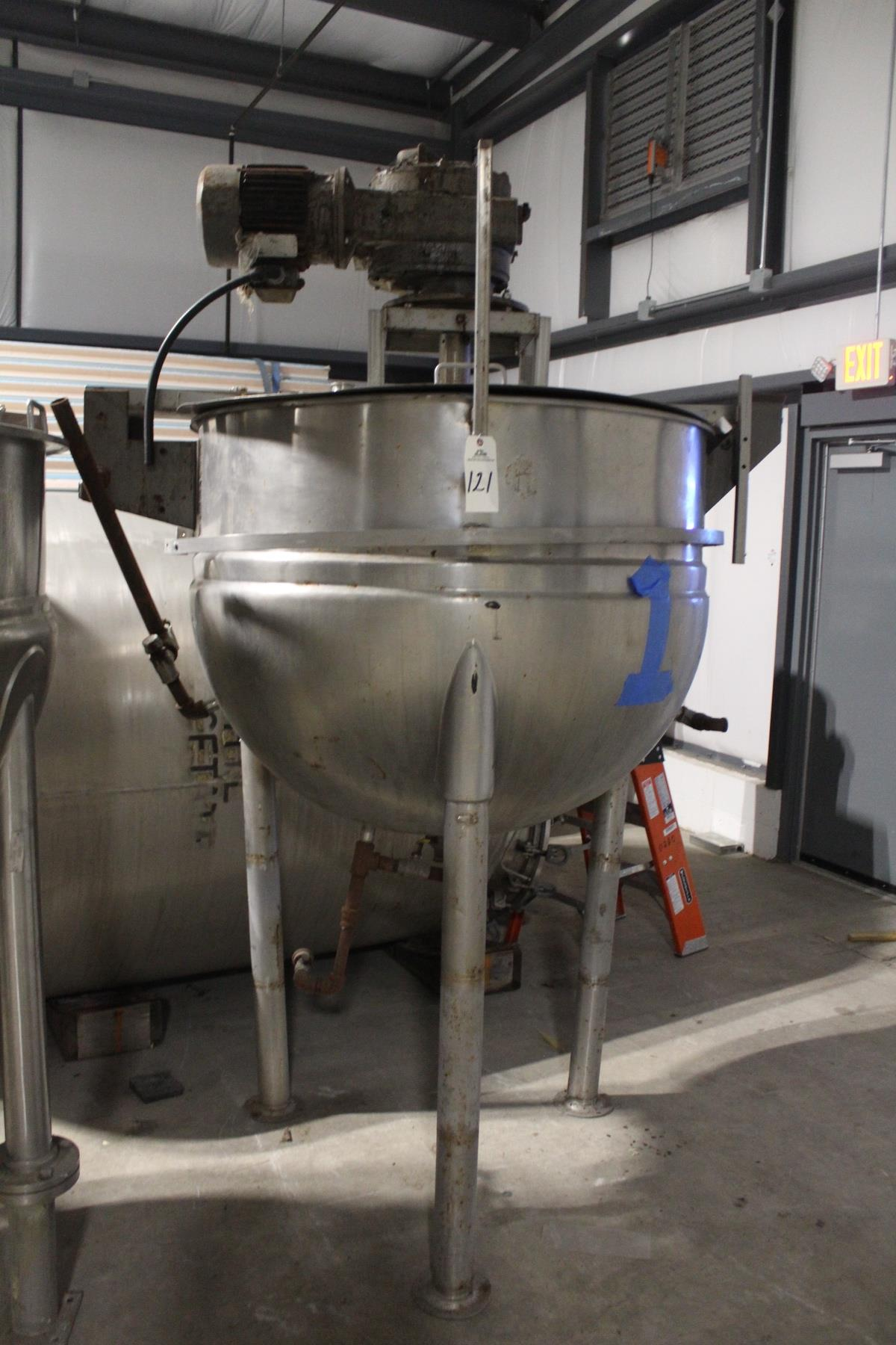 Lot 2N - Lee 200 Gallon Stainless Steel Jacketed, Scraped Surface Kettle