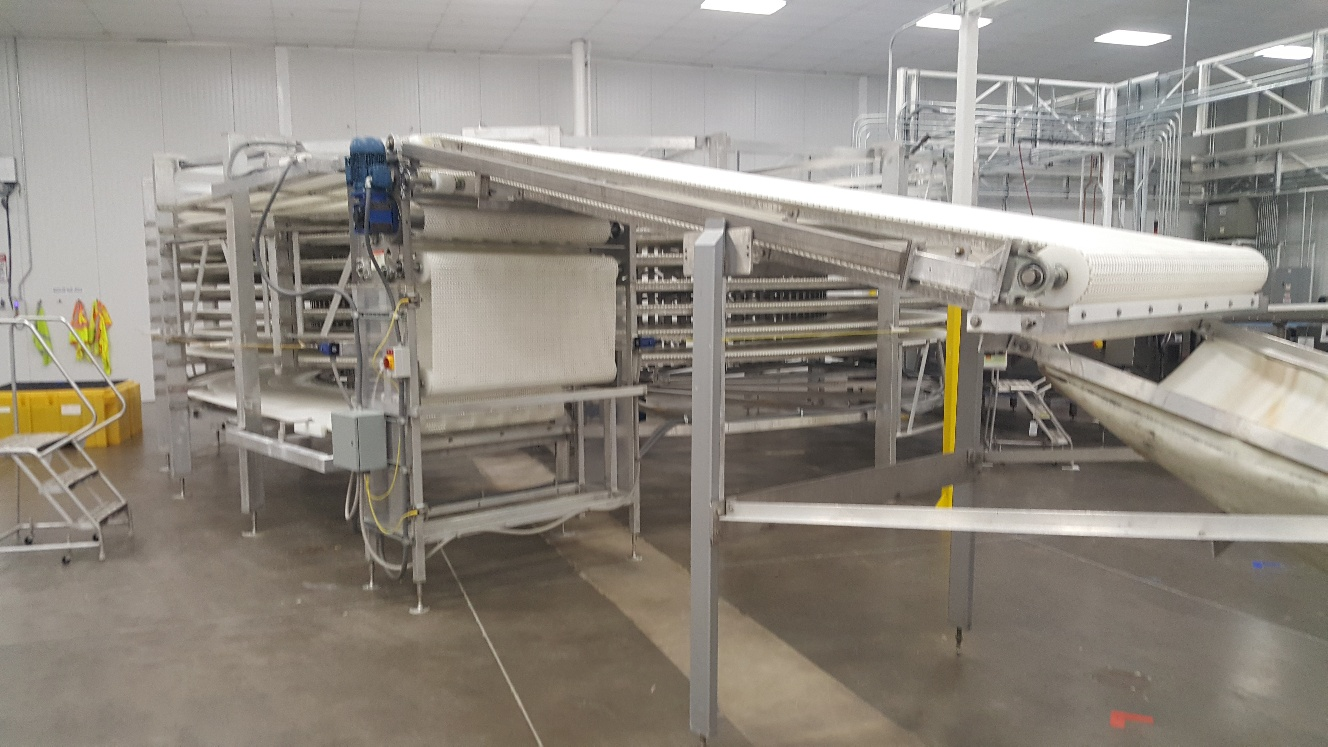 2014 IJ White Ambient Spiral Cooling Conveyor, 9-Tier, 26ft-8in Belt Outside Diameter, 48in Wide Int - Image 3 of 11