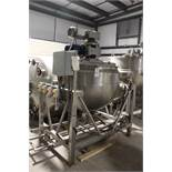 200 Gallon Stainless Steel Tilting, Jacketed, Scraped Surface, Agitated Kettle