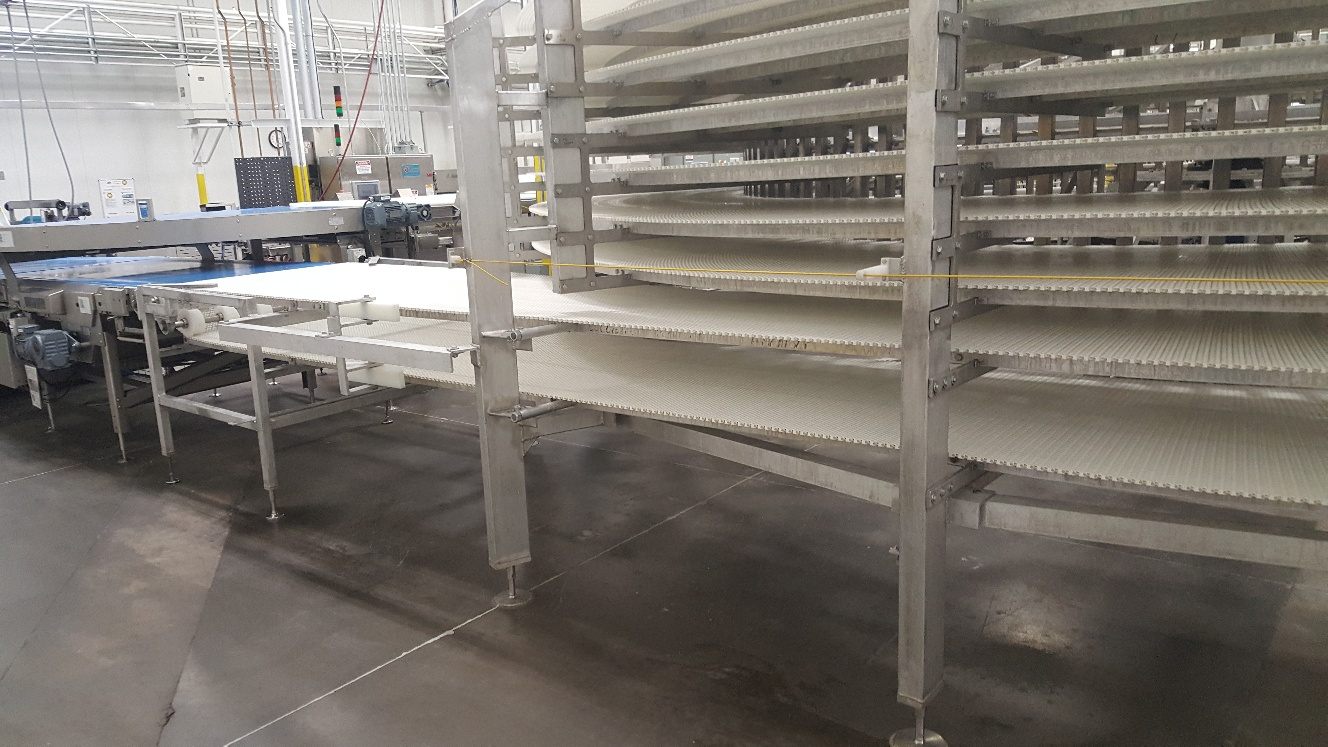 2014 IJ White Ambient Spiral Cooling Conveyor, 9-Tier, 26ft-8in Belt Outside Diameter, 48in Wide Int - Image 7 of 11