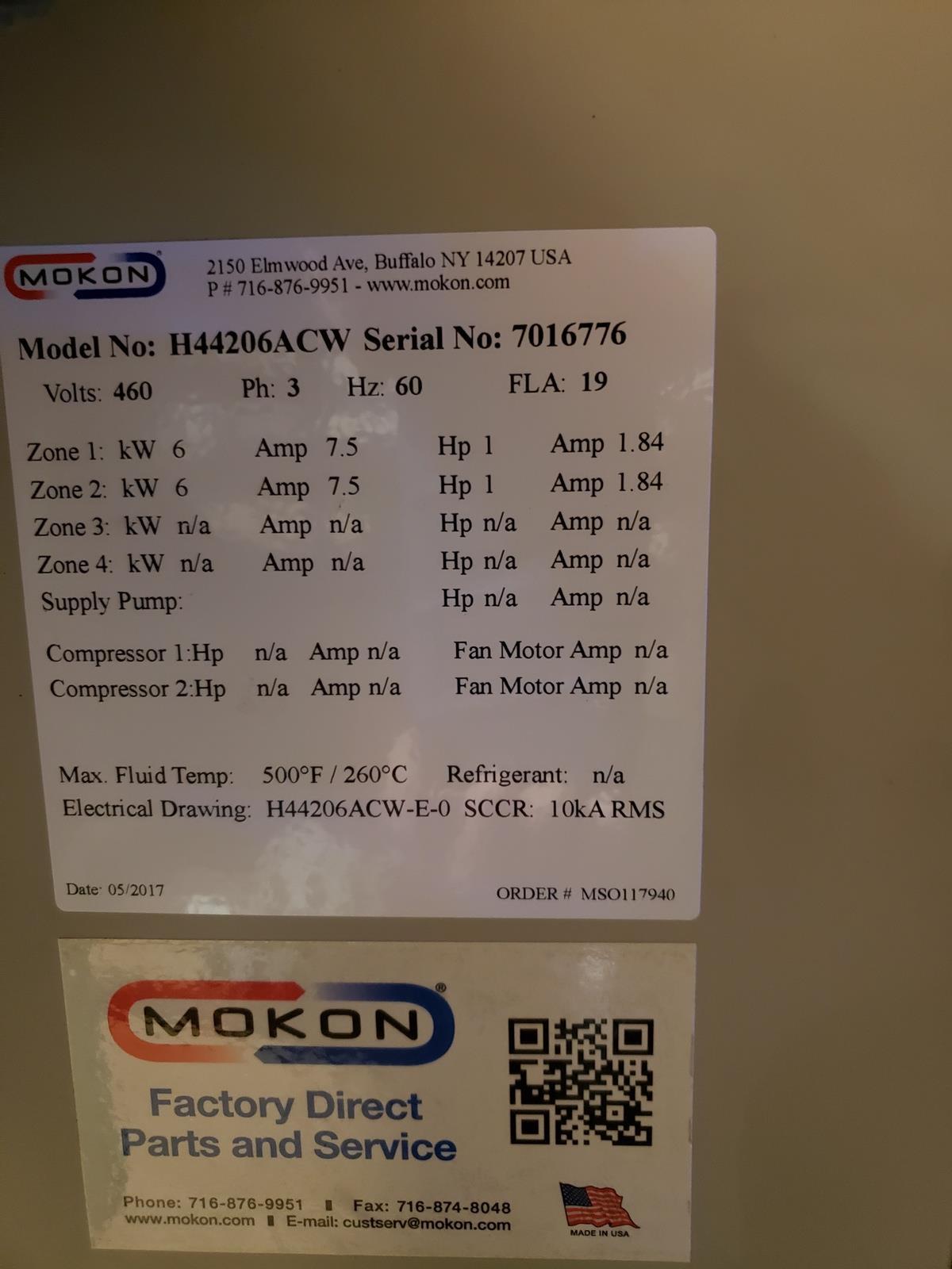 Mokon 4 Zone Chiller, M# H44206ACW, S/N 7016776 - Image 2 of 2