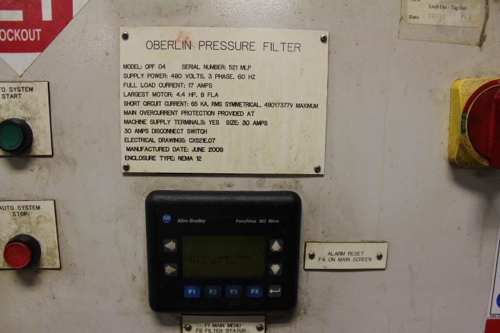 Lot 47 - Oberlin, Model OPF04, Pressure Filter