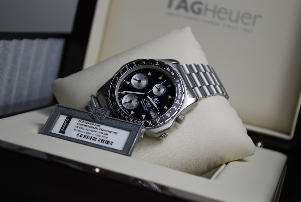 """Lot 42 - ***EXCEPTIONALLY RARE & PRICELESS*** All Steel TAG HEUER 2000 Tachymetre Chronograph 273.306 """"Tachy"""""""
