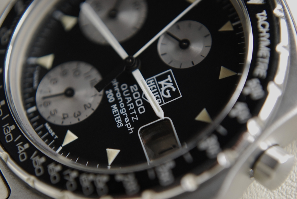 "Lot 42 - ***EXCEPTIONALLY RARE & PRICELESS*** All Steel TAG HEUER 2000 Tachymetre Chronograph 273.306 ""Tachy"""