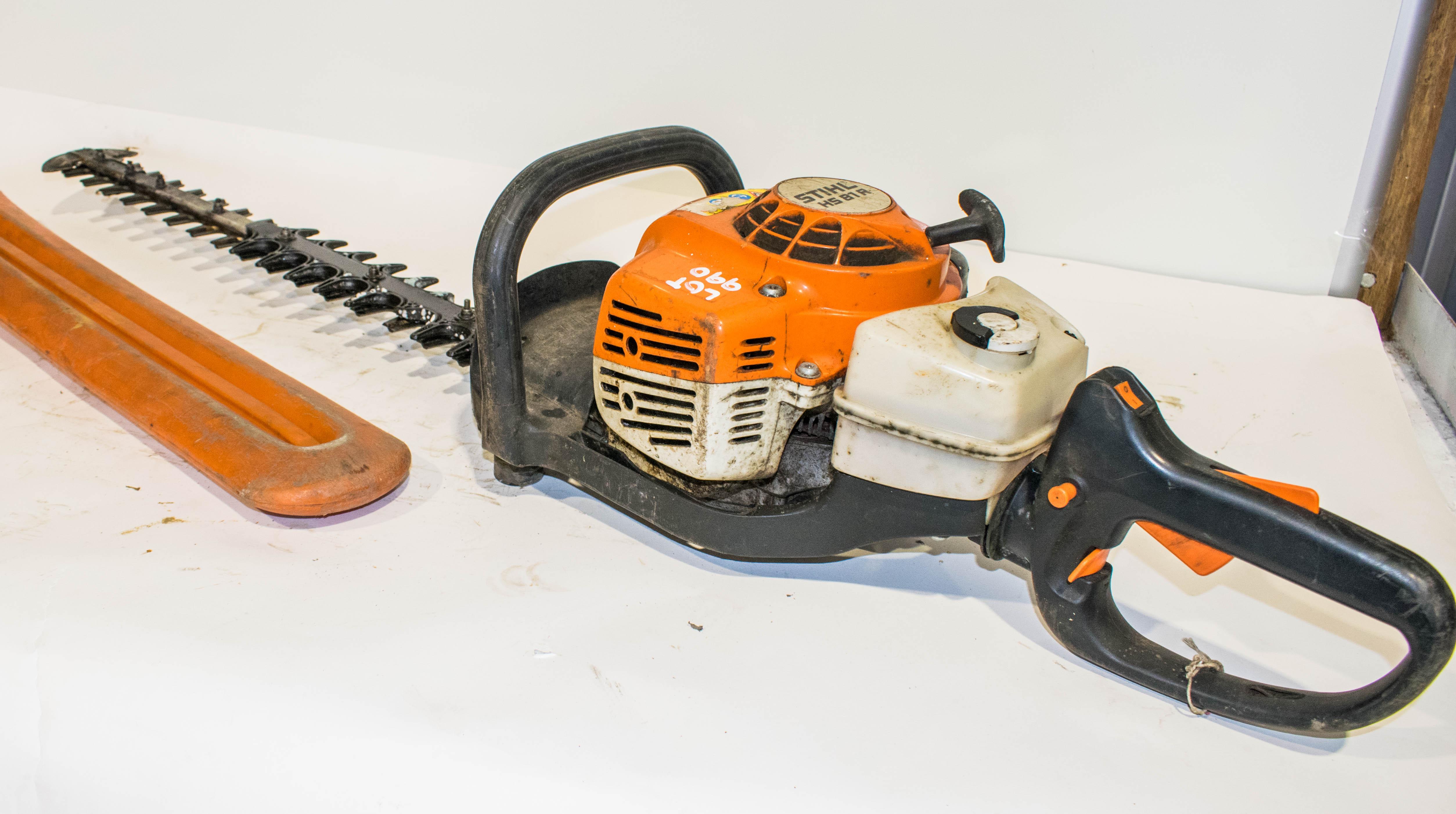 Lot 990 - Stihl HS81R petrol driven hedge cutter