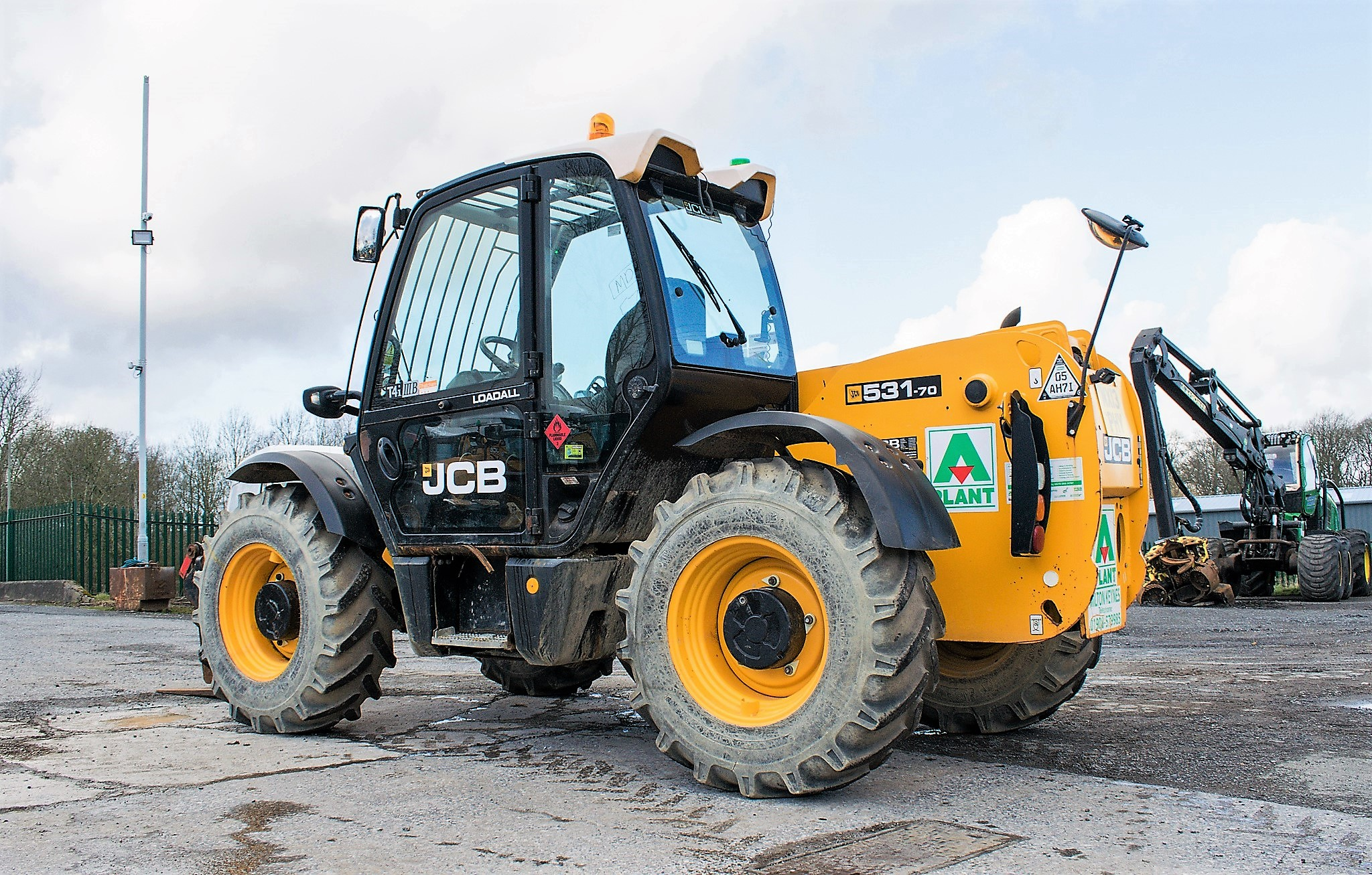 JCB 531-70 7 metre telescopic handler Year: 2013 S/N: 2176575 Reg No: MX13 PHY Recorded Hours: - Image 3 of 19