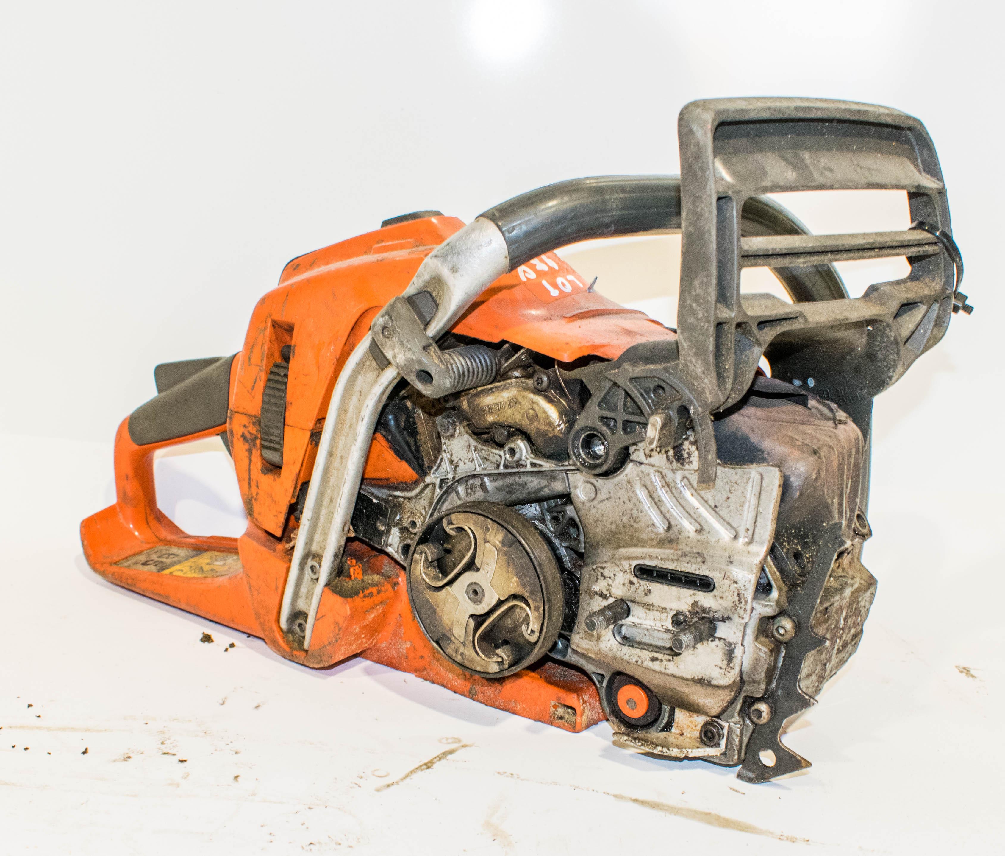 Lot 988 - Husqvarna petrol driven chainsaw ** no blade or bar **