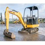 JCB 8014 1.5 tonne rubber tracked mini excavator Year: 2016 S/N: 75109 Recorded hours: 831 blade,
