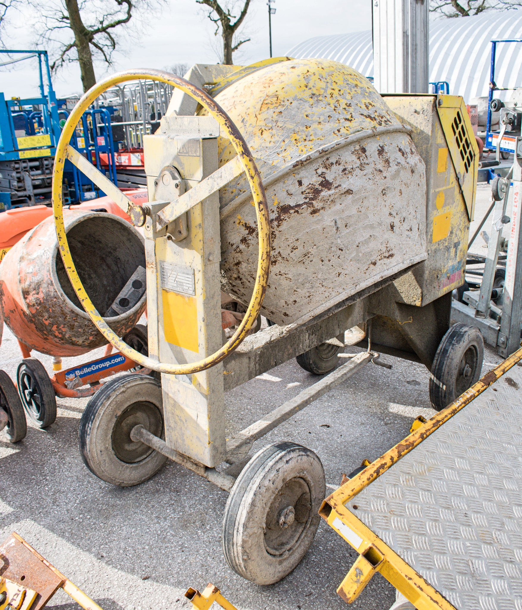 Winget electric start diesel driven site mixer A601569