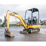 JCB 8014 1.5 tonne rubber tracked mini excavator Year: 2015 S/N: 71231 Recorded hours: 1028 LH16001