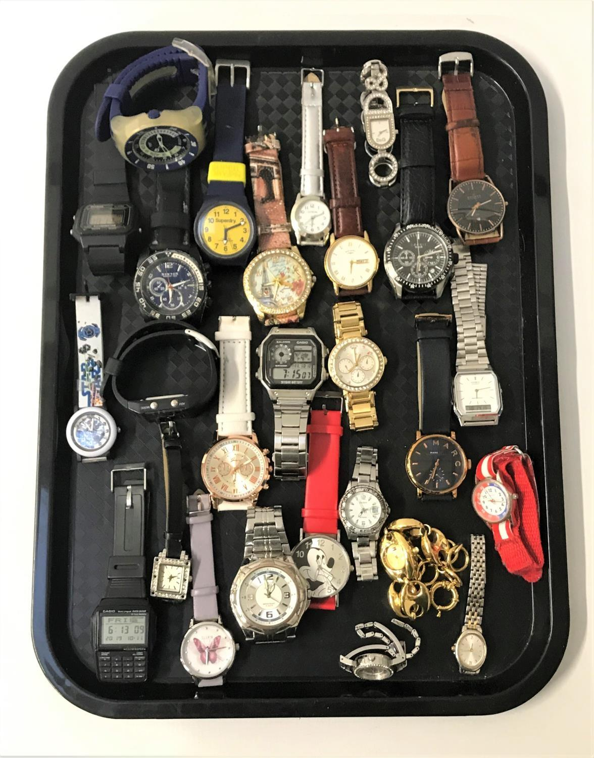 Lot 131 - SELECTION OF LADIES AND GENTLEMEN'S WRISTWATCHES including Casio, Superdry, Rotary, Dolce &