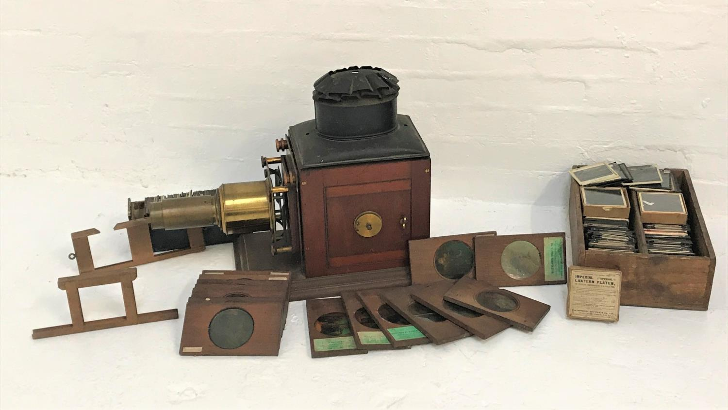 Lot 270 - NEWTON & CO. MAGIC LANTERN PROJECTOR marked 'Opticians to His Majesty the King and the Government. 3